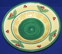 "LOVELY LARGE VILLEROY & BOCH 12"" MERRY WINTER ROUND PASTA SERVING BOWL"