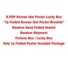 """K-POP Lucky Box """"1p Folded Korean Idol Poster Bromide"""" Random Send Folded Sealed"""