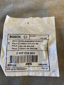 Bosch New Original Carbon Brush Set (2 607 034 904) SC001