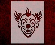 "Evil Clown Smiling 8.5"" x 11"" Stencil FAST FREE SHIPPING (531)"