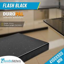 Laminated Kitchen Benchtop Laundry Flash Black 4.1x0.9M Duropal Heat Resist