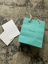 """Authentic, New Tiffany & Co Blue Paper Gift Bag 6"""" x 5"""" x 3"""" With Note Card"""