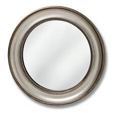 Detailed Circular Wall Mirror Dia.90cm Silver