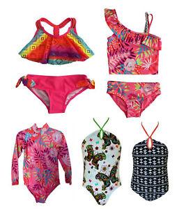 Baby Girls Swimsuit, Kids Swimming Costume Bikini Tankini 2 Piece 0 - 14 Years