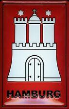 panneau métallique TABLEAU / de style rétro Hamburg ARMOIRIES Ville