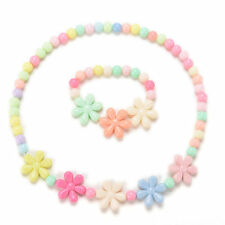 1x Girls Baby Toddlers Necklace Bracelet Flower Kids Gift Party Jewelry Baby