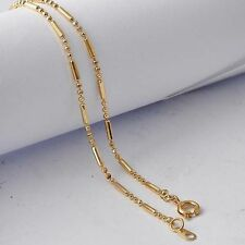 20 inch Womens Beade Chain Necklace Free Shipping Yellow Gold Filled jewelry