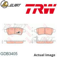 Borg /& Beck BBP1989 Rear Brake Pads TRW