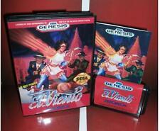 EL Viento US Cover for Sega MegaDrive Video Game system 16 bit MD card