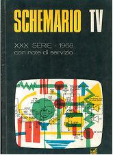 SCHENMARIO TV XXX SERIE 1968 CON NOTE DI SERVIZIO ED. IL ROSTRO TELEVISIONE