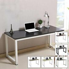 More details for computer home office desk corner wooden desktop table pc study workstation shelf