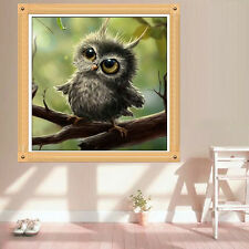 DIY 5D Owl Diamond Painting Embroidery Crafts Cross Stitch Home Room Wall Decor