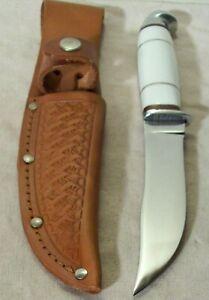1930's~WESTERN~PAT. NO. 1967479~UNUSED~ANTIQUE HUNTING & FIGHTING KNIFE w/SHEATH