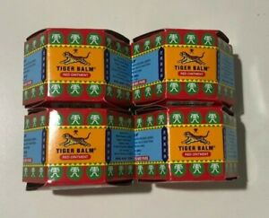 Tiger Balm Red Super Strength Pain Relief Ointment 10g x 4 EXP.10/09/22 NEW