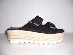 Skechers Reputation Buzz About Women's Black Platform Sandals Size 9 NEW!