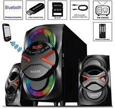 Boytone BT-326F 2.1ch Wireless Bluetooth Speaker Sound System SD FM Radio NEW
