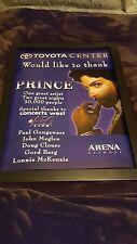 Prince Rare Original Houston Toyota Center Concert Promo Poster Framed!