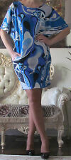 EMILIO PUCCI Runway Multicoloured Signed Stretchy Dress/Caftan It 42,US 6-8/S-M