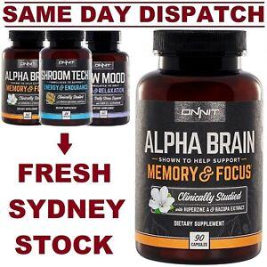 Onnit Alpha Brain Shroom Tech New Mood Joe Rogan JRE Nootropic COMBO DISCOUNTS!