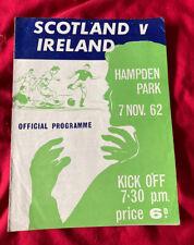 More details for 1962 scotland v ireland british home championship international programme