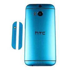 OEM HTC One M8 Battery Cover Back Door Case Housing + Speaker Grills Blue