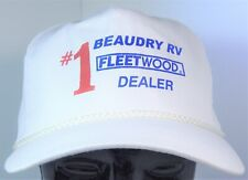 Beaudry RV #1 Fleetwood Dealer White Rope Snapback Cameo Trucker Hat Tucson, AZ