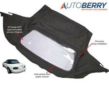 Mazda Miata Convertible Top & Plastic Window 1990-2005 Black Cabrio