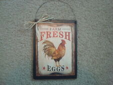 """Prim Country Print *CHICKEN* Plaque 5 1/2"""" x 7 1/2""""--FREE SHIPPING!!!"""