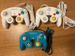 Official Nintendo 3xRare Emerald Blue Smash bros White Gamecube Wii Controller