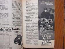 August-1975 TV  Guide (LIZZIE BORDEN/ELIZABETH MONTGOMERY/DONNA DOUGLAS/GUNSMOKE