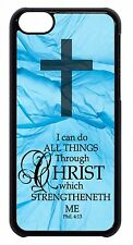 For Apple iPod 4 5 6 Cross Christian Bible Verse Quote Saying Back Case Cover