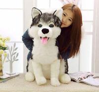70cm SIMULATION HUSKY DOG PLUSH Soft CREATIVE SIMULAITON HUSKY DOG DOLL Toys