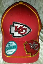 Kansas City Chiefs Women's Rhinestone Bling NFL Cap Hat ~NEW~