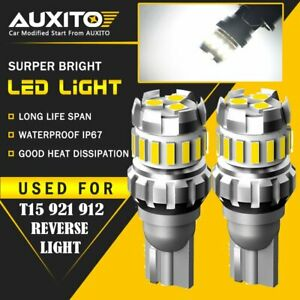 AUXITO 921 912 W16W 904 T15 18SMD LED Reverse Back up Light Bulbs Error Free F