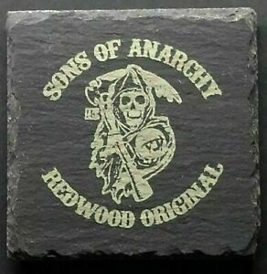 Premium Slate Sons of Anarchy Table Coaster