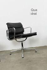 Alu Chair von Ch. Eames EA 207 208 von Vitra Herman Miller Leder schwarz