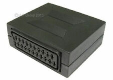 SCART COUPLER JOINER - 21 PIN SCART FEMALE TO FEMALE SOCKETS  Join 2 CABLES
