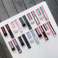 Woven Nylon Flash Sport Loop Watch Band Bracelet For Apple Watch series 5/4/3/2