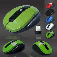 PC Computer MAUS 2.4 GHz Wireless Kabellos Funk Maus Optische USB Notebook Mouse