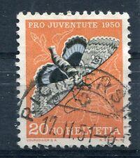 SUISSE - 1950, timbre 504, PAPILLON LICHENEE BLEUE, oblitéré