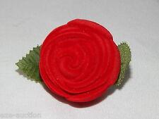 Red Wine Flower Shape Velvet Jewelry Gift Box For Necklace & Earring