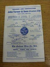 28/03/1967 Preston North End V Rotherham United (arrugada, cuatro posibles Autogra