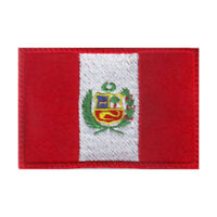 Peru Flag Embroidered Patch