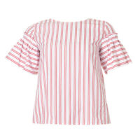 iBLUES MAX MARA Top White & Red Stripe Short Sleeved RRP £99 BG