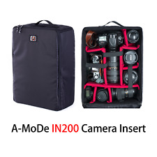 Large Waterproof DSLR Camera Bag Insert Handbag Carry Case a-mode black