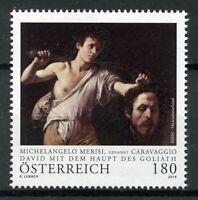 Austria 2019 MNH Michelangelo Merisi Caravaggio David Goliath 1v Set Art Stamps