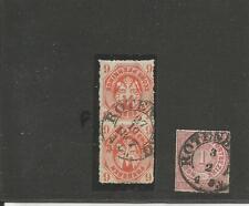 TH & T/Castello ROSSA 27.10.1867, k2 su Norm. COPPIA pr. 15b + k2 (O. anno) su NDP