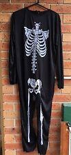 Mr Bones Jangle Skeleton Zombie Jumpsuit Halleween Fancy Dress Costume