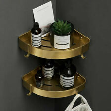 Bathroom Shelf Double Shower Organizer Storage Kitchen Rack Adhesive Aluminum