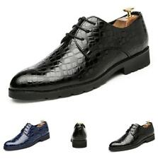 Men's Leisure Leather Shoes Shiny Lace up British Breathable Non-slip Party Chic